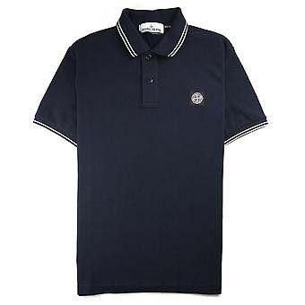 Stone Island Twin Tipped Short Sleeve Polo Shirt 'Regular Fit' Navy