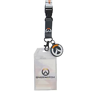 Overwatch Logo Lanyard with PVC Charm