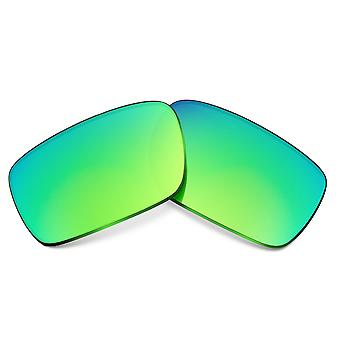 SEEK Replacement Lenses Compatible for Oakley Crankcase Polarized Green Mirror