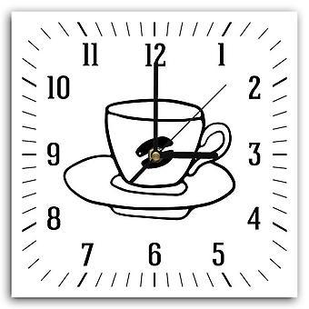 Reloj decorativo con imagen, café 2