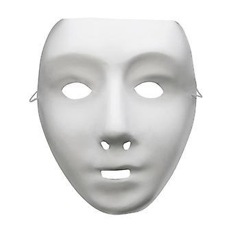 Gli adulti delle donne degli uomini Robot bianco viso maschera costume accessorio