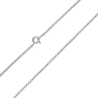 TOC Sterling Silver 2.4gr Sfaccettato Belcher Link Hanging Chain Collana 20