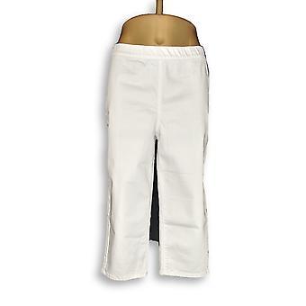 Susan Gravir Donne's Pantaloni Stretch Slub Twill Tirare Su Bianco A349929