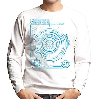 De Crystal Maze kleuren display heren ' s Sweatshirt