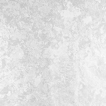 Muriva Ellen Pearl Wit metallic behang Plain textuur industriële verdrietig