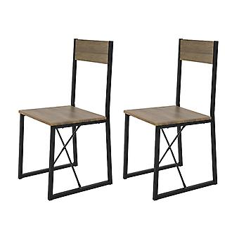 SoBuy Set of 2 Dining Chairs, Modern Design Kitchen Chairs Dining Chairs,FST67x2