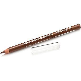 Beauty Uk Line & Define Eye Pencil No. 3-Brown
