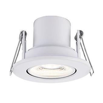 Saxby belysning Shieldeco Fire rated integrerad LED Tilt infälld ljus Matt vit, akryl 78521