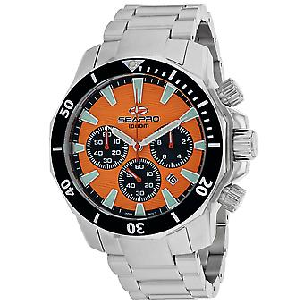Seapro Men-apos;s Scuba Dragon Diver Limited Edition 1000 Meters Orange Dial Watch - SP8343