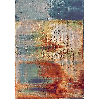 3' x 5' Monivärinen abstrakti vesivärialuematto