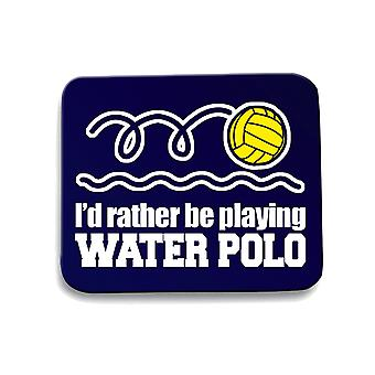 Navy navy blue mouse pad gen0871 id rather be playing water polo