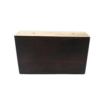Prostokątna ciemnobrązowa drewniana noga mebli 9 cm