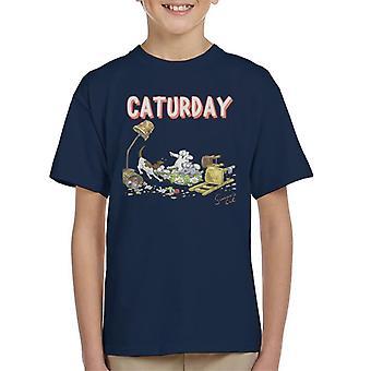 Simon's Cat Caturday Kid's T-Shirt