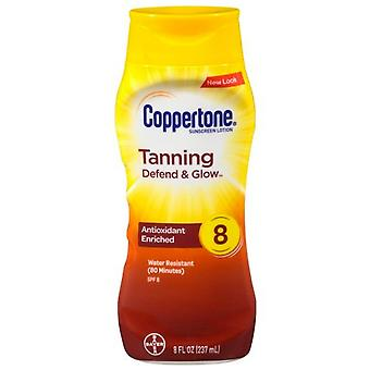 Coppertone tanning sunscreen lotion, spf 8, 8 oz