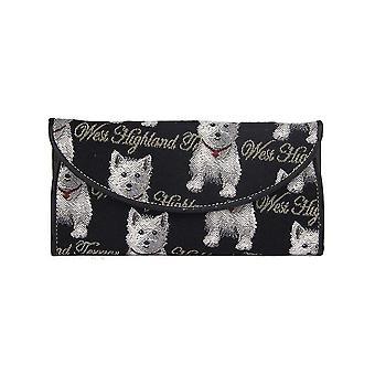 Westie ladies' money wallet by signare tapestry / enve-wes