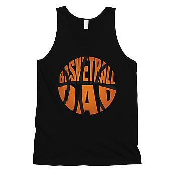 Basketball Dad Mens Black Sentimental Cool Sleeveless Top Dad Gift