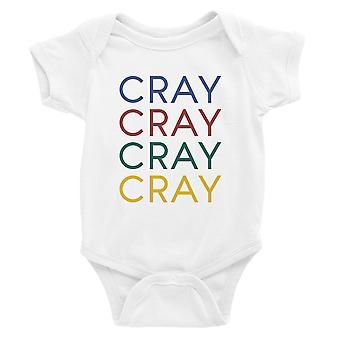 365 Printing Cray Baby Bodysuit Gift White Funny Baby Jumpsuit For Baby Shower