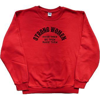 As mulheres fortes camisola vermelha