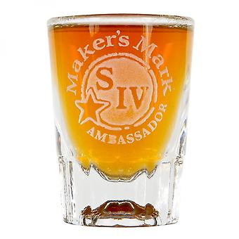Makers Mark Etched Ambassador Shot Glass