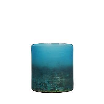 Licht- en levend theelicht 10x11cm - Valerio Matted Blue-Ox Copper