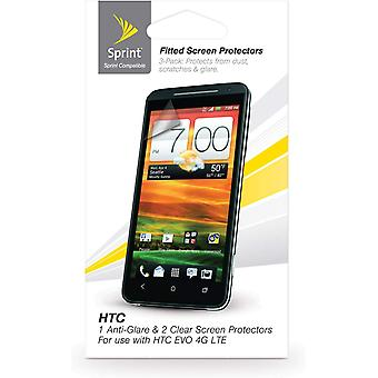 Sprint Anti-Glare Screen Protector for HTC EVO 4G (3 Pack) - Clear
