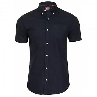 Superdry Classic University Oxford S/S Shirt Eclipse Navy 98T