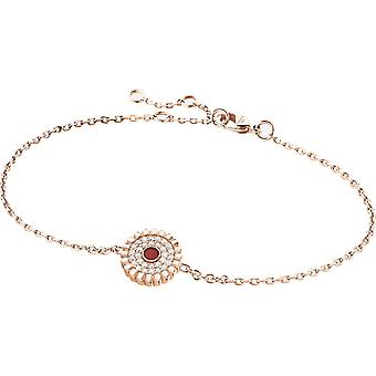 Zeades Sbc01054 bracelet - Bracelet Rose Gold Leather Crystal woman