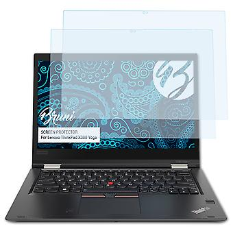 Bruni 2x Screen Protector kompatibel med Lenovo ThinkPad X380 Yoga Beskyttende Film