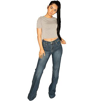 Long-Leg wijd uitlopende Jeans