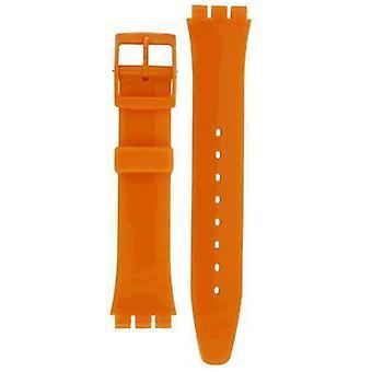 本物のスウォッチウォッチストラップフレッシュパパイヤクラシックオレンジウォッチ17mm