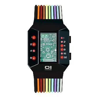 THE ONE Watch Men's Binary Wristwatch Split Screen SC202R6