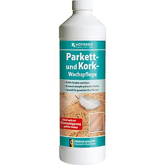 HOTREGA® parquet and cork wax care, 1 litre bottle