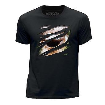 STUFF4 Chłopca rundy szyi T-shirty-Shirt i dużych strusia/Rip/Zoo zwierzę/czarny