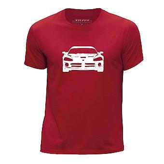 STUFF4 Pojan Pyöreä kaula T-paita/kaavain auton Art / Viper SRT-10/punainen