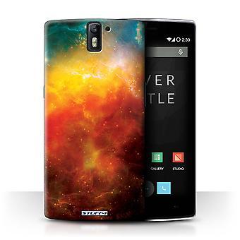STUFF4 Pokrywę OnePlus jeden/Pomarańczowy Nebula/miejsca/Cosmos