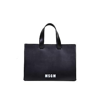 Msgm 2841mdz5045099 Dames's Black Leather Tote