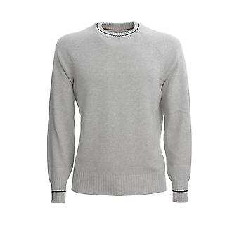 Brunello Cucinelli M28701600ce867 Men's Grey Cotton Sweater