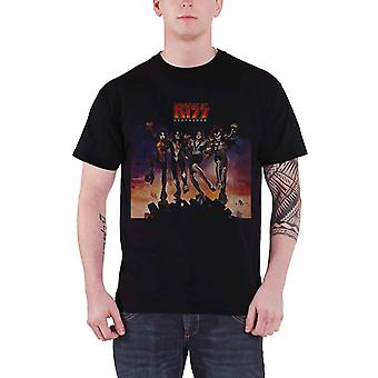 KISS T Shirt Destroyer Album Cover Band Logo new Official Mens Black