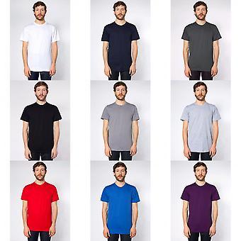 Amerikan Giyim Yetişkin Unisex Düz Kısa Kollu Pamuk T-Shirt