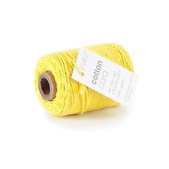 Vivant Cord Cotton fine yellow - 50 MT 2MM
