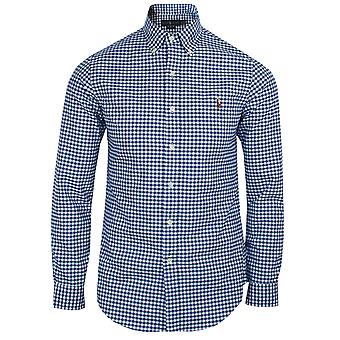 Ralph lauren men's royal and white oxford gingham shirt