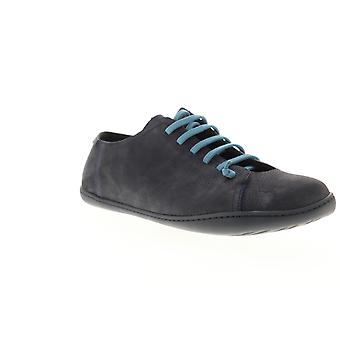 Camper Peu Cami  Mens Blue Leather Lace Up Low Top Sneakers Shoes