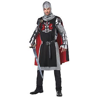 Mannen middeleeuwse ridder vermomming