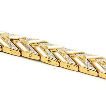 The Olivia Collection Ladies Goldtone & Silvertone Magnetic Bracelet 7.5 inches.