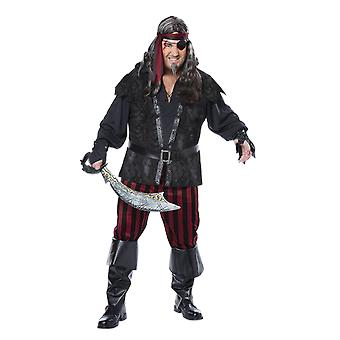 Mens Ruthless Rogue Plus Size Caribbean Books & Film Fancy Dress Costume