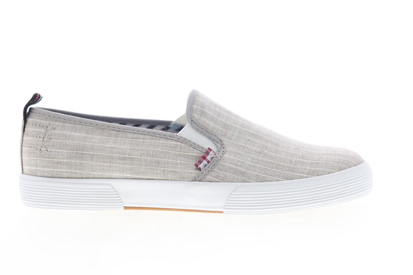 Ben Sherman Bristol Slip On Mens Brown Canvas Sneakers Chaussures