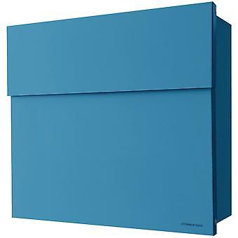 Caixa de correio raio Letterman 4 azul parede letra caixa 560n