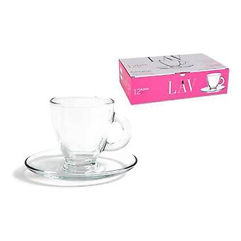 Piece Coffee Cup Set LAV 155 ml Crystal (12 Pcs)