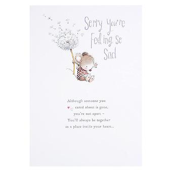Hallmark Sorry Youre Feeling So Sad - Sympathy Bereavement Card 11372811