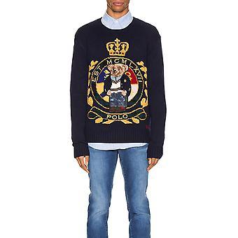 Ralph Lauren Ezcr012031 Men's Blue Wool Sweater